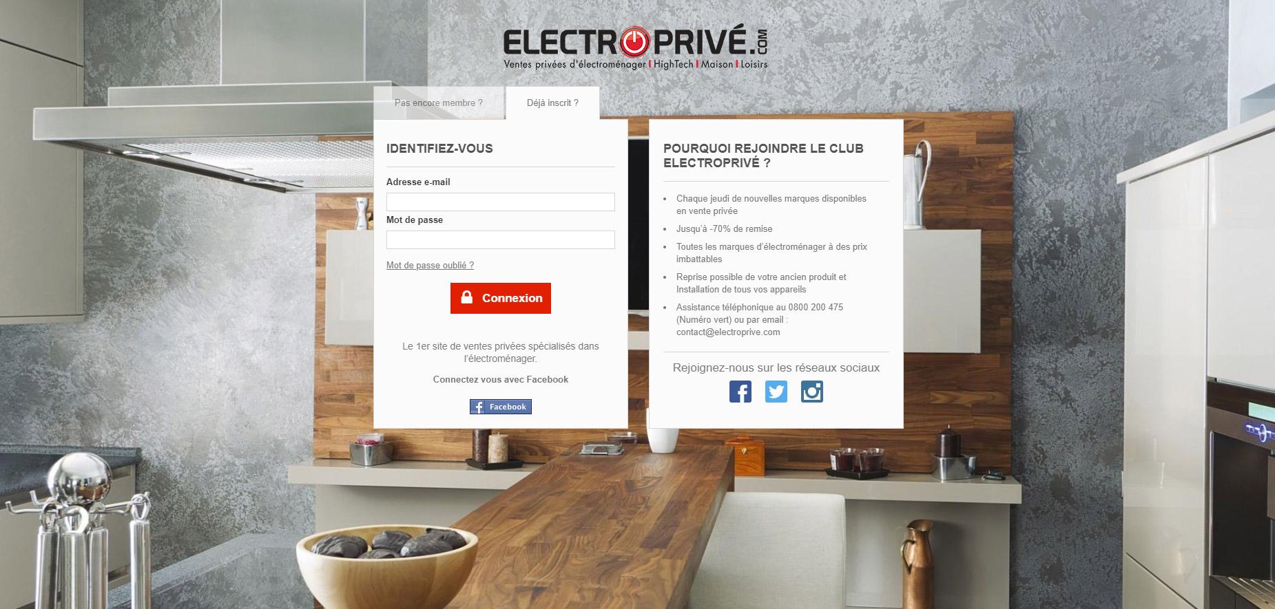 [Projet 100% remboursé] Electroprivé.com