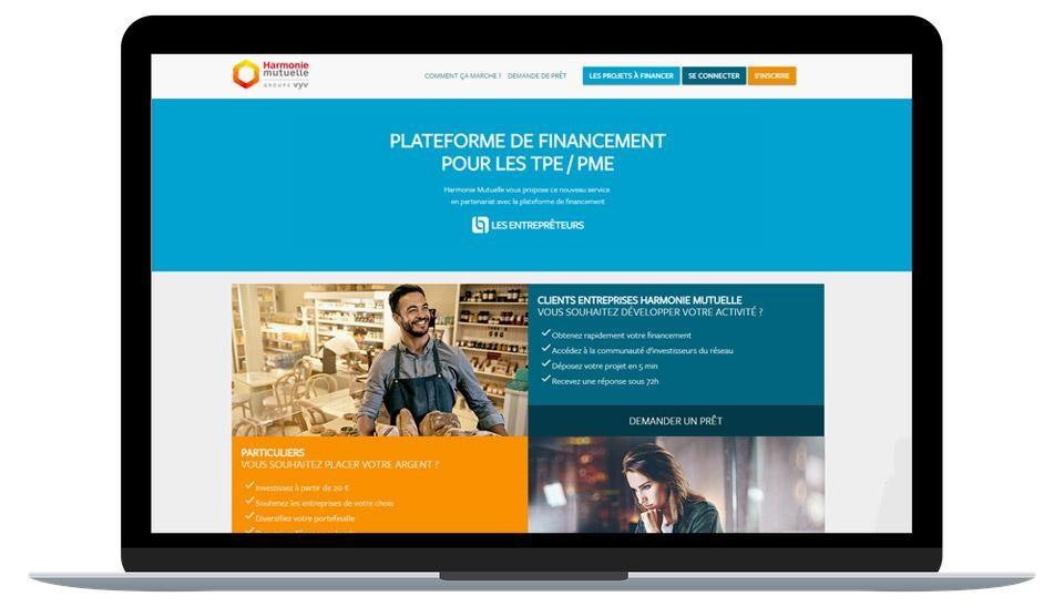 Lancement de la plateforme de financement participatif d'Harmonie Mutuelle